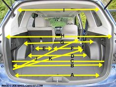 2014 subaru forester cargo dimensions and measurments. hand measured