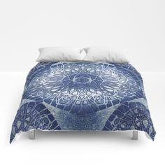 Ink Frost Mandala Comforters