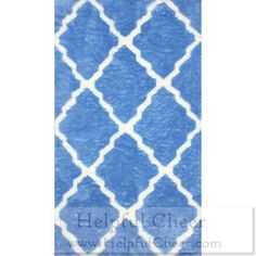 nuLOOM Modern Faux Sheepskin Lattice Trellis Blue Shag Rug 5 x27 x 8 x27 - at Ove