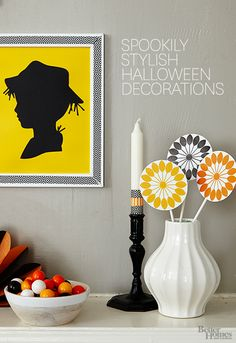 Embrace your inner witch with these deliciously sinister decorations: http://www.bhg.com/halloween/indoor-decorating/halloween-decorations/?socsrc=bhgpin081514creepydecor&page=1