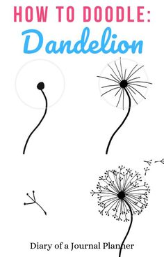 malen/zeichnen How to draw a dandelion: Easy dandelion drawing step by step tutorial Doodle Art Dandelion doodle art Draw Drawing Easy MalenZeichnen Step Tutorial Easy Doodle Art, Doodle Art Drawing, Pencil Art Drawings, Drawing Drawing, Easy Doodles Drawings, Doodles How To, Drawing Ideas, Easy Drawings Sketches, Things To Doodle
