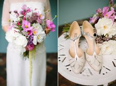 Ivory and Silver T- Bar Sandals - Vintage Inspired Wedding Shoes From Rachel Simpson | Photography by http://www.emmacasephotography.com/