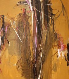 Ochre Sprout, 2013 | Oil and gesso on canvas | 80 x 70 inches