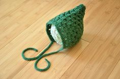 St. Patrick's Day Baby Bonnet  Green Infant Baby by MerryToppers