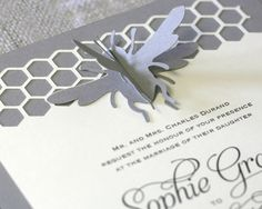 Bumble Bee Wedding Invitations by Timeless Paper