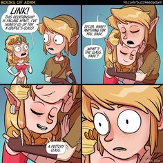 Adam Ellis | Comic | Funny | Gamer Humor | Zelda and Link | Pottery Class