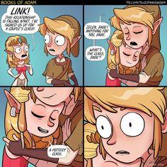 Adam Ellis | Comic | Funny | Gamer Humor | Zelda and Link | Pottery Class