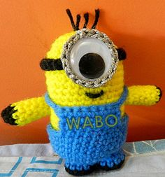 Extremely cute crochet minion...