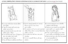 Resultado de imagen de grafisme Saint George And The Dragon, St Georges Day, Google Drive, Curriculum, Writing, Infants, Valencia, Dragons, Yoga