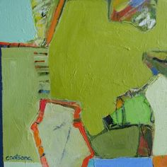 Melinda Cootsona - Garden I  12 x 12 love the layers peeking through