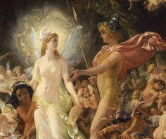 """spoutziki-art: """" Sir Joseph Noel Paton - The Quarrel of Oberon and Titania, 1849 (detail) """""""