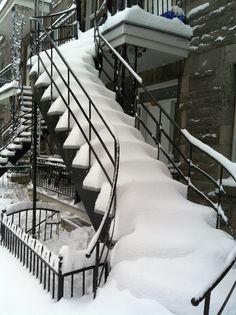 Winter in Montréal, Québec