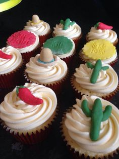 Mexican themed Hen Party Cupcakes