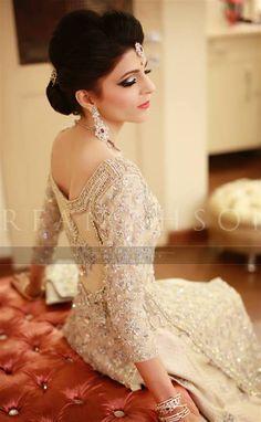 love the back of this sharara! 71 Pakistani Wedding Dresses | Irfan Ahson Photos