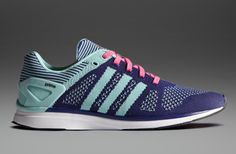 the best attitude b29ab e5365 adidas Adizero Primeknit Feather - Womens Running Shoes - Purple-Mint-Black