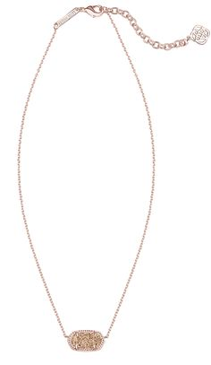 Kendra Scott Elisa Necklace Rose Gold Drusy