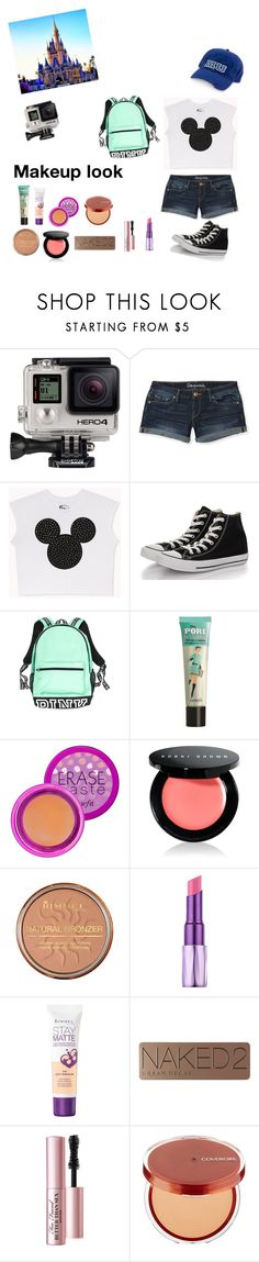 """""""Disney World!"""" by emily1321 ❤ liked on Polyvore featuring GoPro, Aéropostale, Forever 21, Converse, Benefit, Bobbi Brown Cosmetics, Rimmel, Urban Decay and Too Faced Cosmetics"""