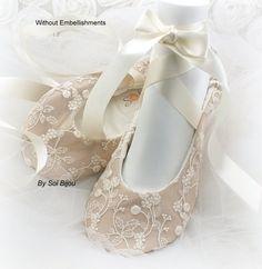 Ballet pisos Champagne marfil boda Vintage boda por SolBijou