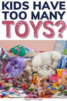 Stop organizing toys and declutter them instead. Kids have too many toys and need far less! Less toys makes for happier kids and more play! Organizing Toys, Organizing Your Home, Organizing Ideas, Playroom Organization, Home Organization Hacks, Declutter Your Life, Toy Storage, Kids Storage, Happy Kids