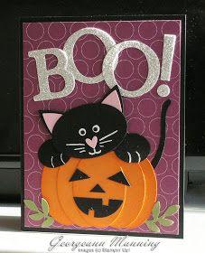 'Me' Time: Peek-A-BOO! - love the cat & the pumpkin face idea