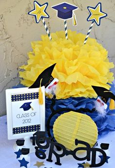 Photo 1 of 19: Blue and Yellow / Graduation/End of School You are a STAR! FREE printable | Catch My Party