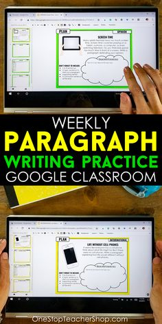 Paragraph writing doesn& have to be hard! Use Paragraph of the Week to make writing practice a fun and enjoyable part of your writing routine! Writing Lessons, Writing Practice, Teaching Writing, Writing Activities, Writing Prompts, Writing Websites, Teaching Spanish, Math Lessons, Writing Rubrics