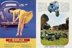 Talleres Borja de 1954 y motos Vespa 1966