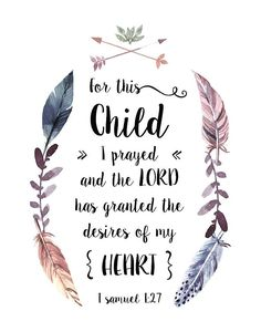 Planting His word one Bible Verse Print at a time. Birth Affirmations, Pregnancy Affirmations, 1 Samuel 1 27, Pregnancy Quotes, Pregnancy Blogs, Pregnancy Prayer, Pregnancy Timeline, Pregnancy Journal, Baby Journal