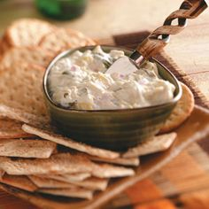 Spinach Artichoke Dip Recipe from Taste of Home -- shared by Jan Haberstich of Waterloo, Iowa