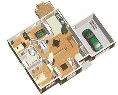 Maison 3 chambres avec garage attenant