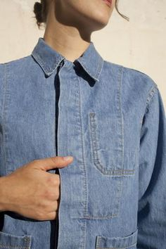 Caron Callahan Krasner Jacket in Blue Denim | Oroboro Store | Brooklyn, New York