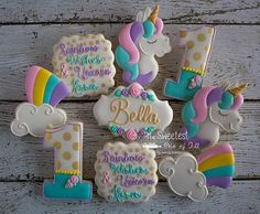 ♡ Rainbow Wishes & Unicorn Kisses ♡ Happy 1st Birthday Sweet Little Bella! I just fell in love with unicorns all over again ♡  Full pic on my FB page. Link in profile.  unicorn inspired by @thecookiechick  #unicorncookies #rainbowcookies #1stbirthdaycookies  #rainbowwishesandunicornkisses #rainbowwishescookies #decoratedsugarcookies #sugarcookies #thesweetestoneofall