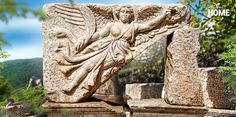 The Goddess Nike reaches out to welcome you to Ephesus.