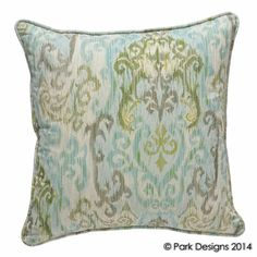 Spa Retreat Pillow by Park Designs. For a Park Designs retailer near you visit our website at www.parkdesigns.net #parkdesigns #summerdecor #coastaldecor