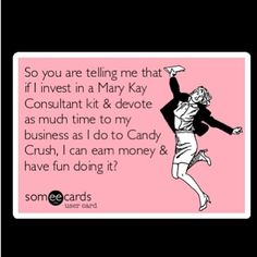 Have fun AND make money!  Be a Beauty Consultant.  http://www.marykay.com/lisabarber68 or call/text me 386-303-2400