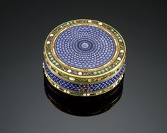 French Gold and Guilloche Enamel Snuff Box, Paris, 1782