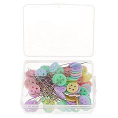 Buttons Head Safety Pins for Patchwork Tailor Dressmaking Sewing Crafts Dressmaking, Sewing Crafts, Suitcase, Projects To Try, Tapestry, Stitch, Purses, Knitting, Glamour