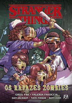 Stranger Things - Os Rapazes Zombies de Greg Pak, ilustração por Dan Jackson e Valeria Favoccia, e design por Nate Piekos. Lançamento banda desenhada por Edições ASA em português, setembro 2020... #bandadesenhada #strangerthings #bdcomicspt