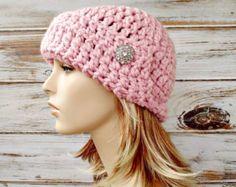 Crochet Hat Womens Hat 1920s Flapper Hat Garbo от pixiebell