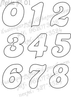 Printable Numbers, Printable Letters, Doodle Lettering, Hand Lettering, Diy Arts And Crafts, Felt Crafts, Alphabet Templates, Number Stencils, Bubble Letters