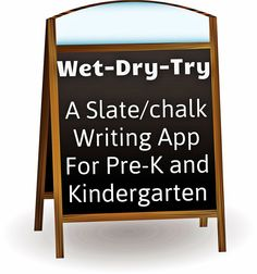 Wet-Dry-Try! A wonderful multisensory writing app for Pre-K and Kindergarten.