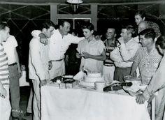 John Wayne with sons Michael and Patrick