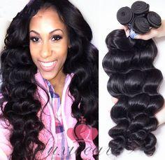 Milan Curl Hair Weaves Extensions Brazilian Virgin Hair 4Pcs