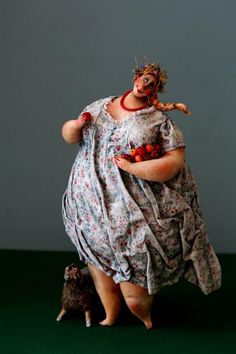 KATYA Fairy tales - YABLON'KA 30 cm. papier mache, modelling clay ...