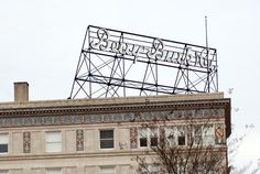 """Jan. 2009 © Frank H. Jump  - Sign for Berry-Burk & Company, clothing retailer that dates back to 1879. Company name was born through mergers & buyouts in 1931.Sign atop Berry-Burk store that was known as """"The Fashion Center of the South"""" Renaissance Revival style building built in 1928. In 2006, building was converted to luxury apartments & redevelopment of the building incorporated Berry-Burk name. Grace Street Commercial Historic District that is listed on National Register of Historic…"""