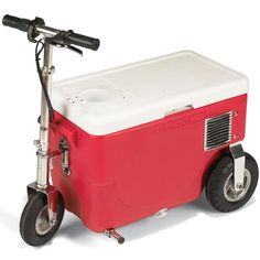 The 13 MPH. Cooler - Hammacher Schlemmer IVE ALWAYS WANTED ONE OF THESE!!! Beer Cooler, Keep Fit, Kids House, Kitchen Cart, Tailgating, Coolers, 40th Birthday, Packers, Clever
