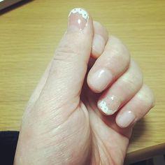 ばぁちゃんの手をアレンジしてみた。写真加工技術万歳‼︎ #セルフネイル#내일