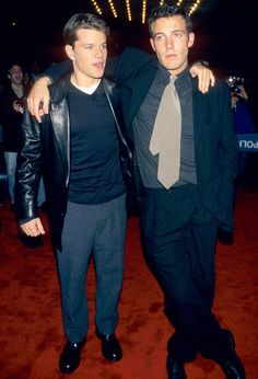 Ben Affleck and Matt Damon | '90s Celebrity Fashion Flashback ...