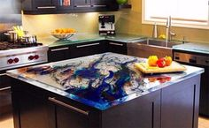 labradorite is a luxury option for kitchen countertops like all