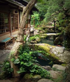 A private garden in Gion, Kyoto, Japan